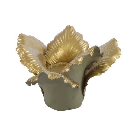 Pai Candleholder CL Khaki - Gold by Curated Kravet