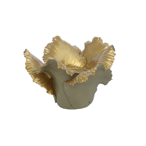 Yala Candleholder CL Khaki - Gold by Curated Kravet