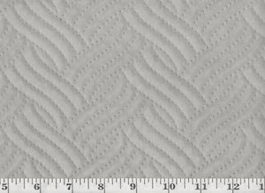 Quilted CL Sterling Top of Bed - Upholstery Fabric by Golding Fabrics