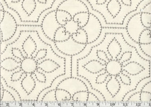 Ruched Up CL Fresco Embroidered Drapery Upholstery Fabric by P Kaufmann