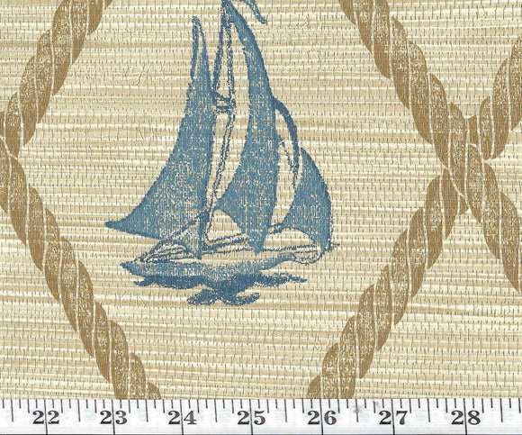 S.S. Hessie CL Slate Single Roll of Wallpaper  by Ralph Lauren