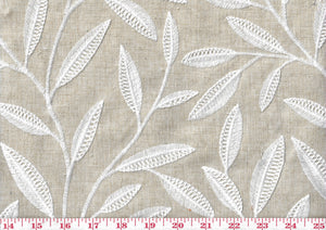 Sew Happy CL White Pearl Drapery Upholstery Fabric by  P Kaufmann