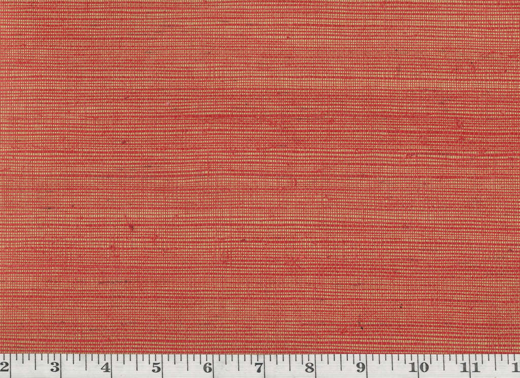 Shantou Metallic Weave CL Persimmon Double Roll of Wallpaper by Ralph Lauren