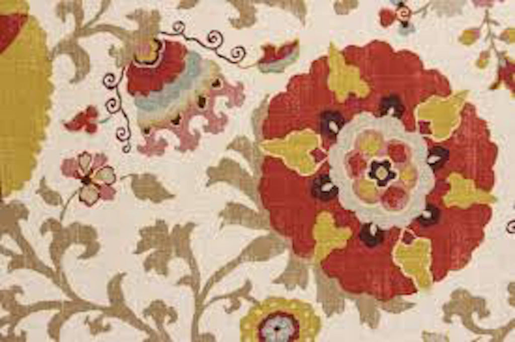 Silsila CL Curry Drapery Upholstery Fabric by Braemore Textiles