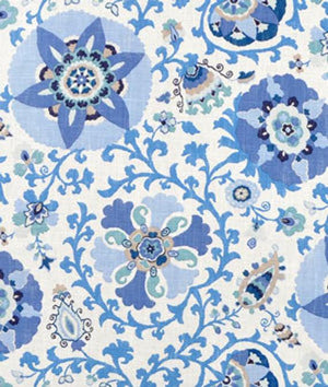Silsila CL Indian Sea Drapery Upholstery Fabric by Braemore Textiles