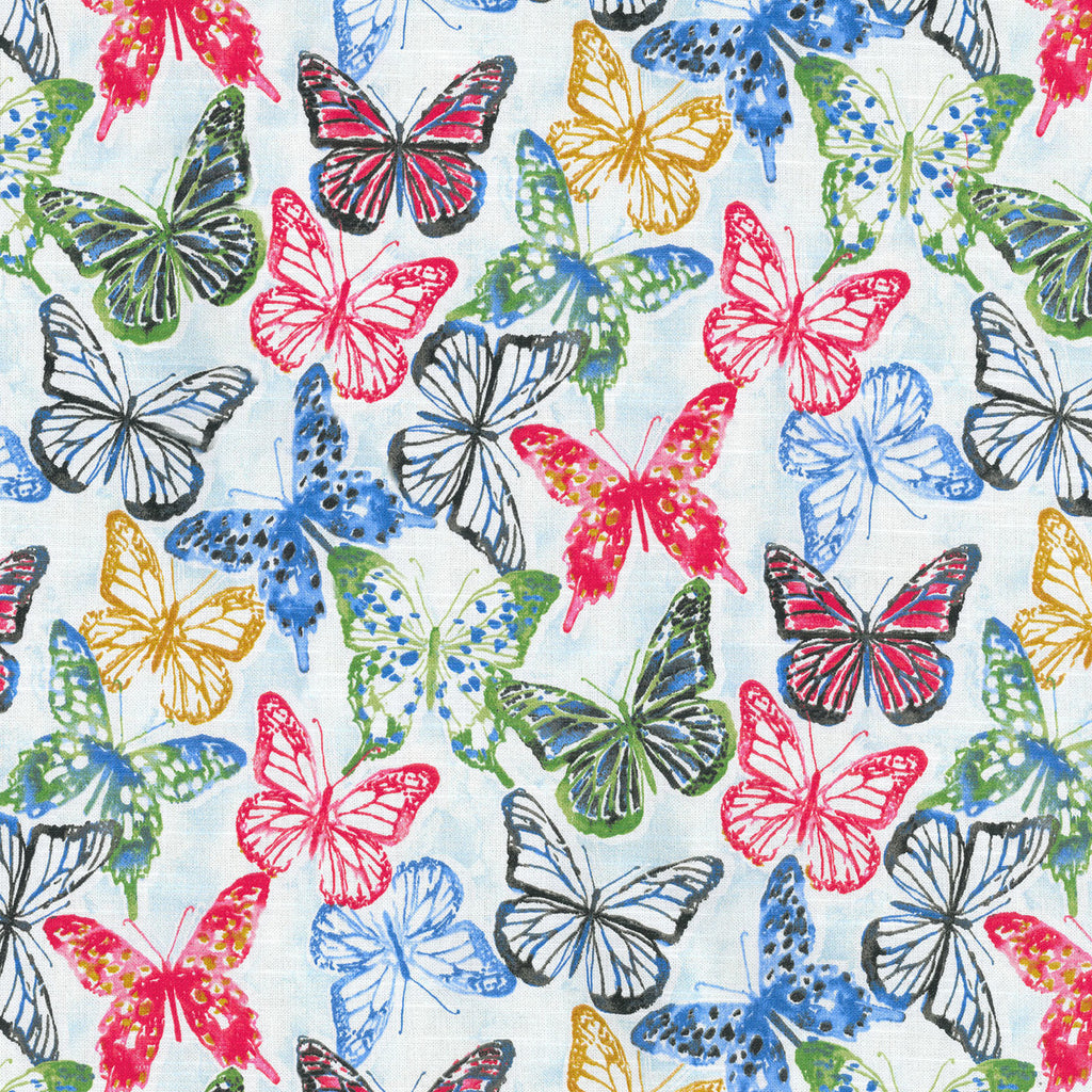 Social Butterfly CL Petunia Drapery Upholstery Fabric by Kelly Ripa Home and PK Lifestyles (Waverly)