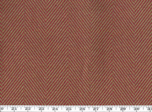 South Downs Herringbone CL Terra Cotta Upholstery Fabric by Ralph Lauren