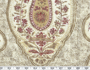 Stepping Stone Paisley CL Clay Drapery Upholstery Fabric by Ralph Lauren