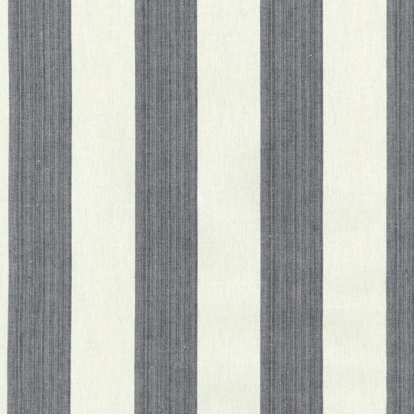 Stratford Stripe CL Licorice Drapery Upholstery Fabric by PK Lifestyles (Waverly)