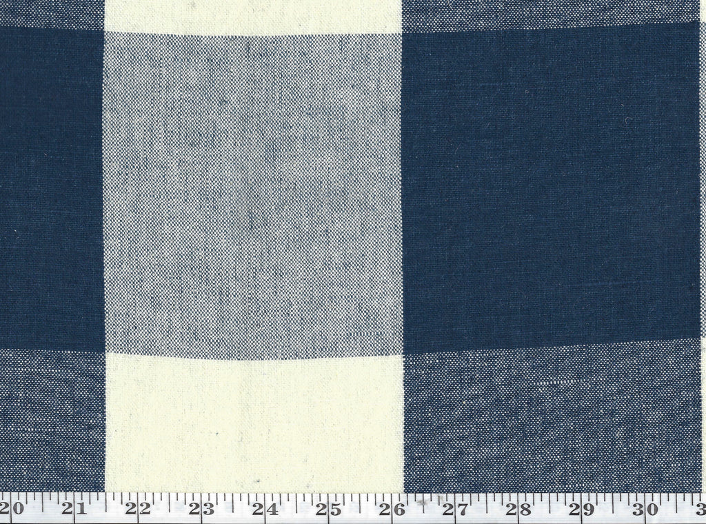 Sturbridge Gingham CL Marine Blue Drapery Upholstery Fabric by Ralph Lauren