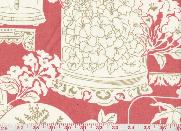 Sun Parlor CL Guava Drapery Upholstery Fabric by  P Kaufmann