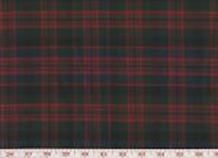 Tartan Plaid CL Red Black Wool Upholstery Fabric by Roth & Tompkins