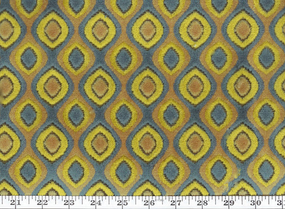 Tisdale CL Caribe Velvet Upholstery Fabric by DeLeo Textiles