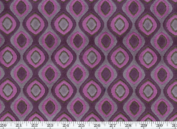 Tisdale CL Orchid  Velvet Upholstery Fabric by DeLeo Textiles