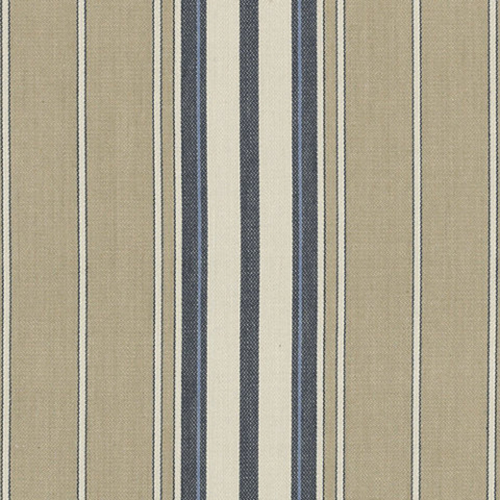 Toulon Ticking CL Navy Drapery Upholstery Fabric by Ralph Lauren