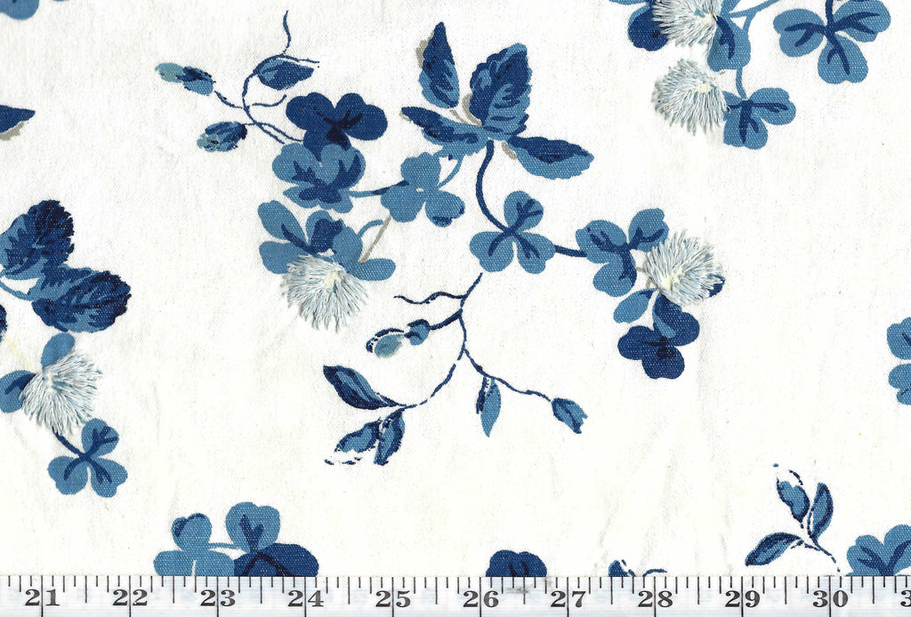 Trefoil Embroidery CL Porcelain Drapery Upholstery Fabric by Ralph Lauren