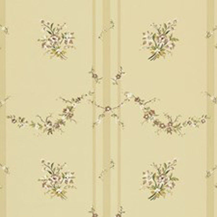 Tuilleries Stripe CL Tea Double Roll of Wallpaper by Ralph Lauren