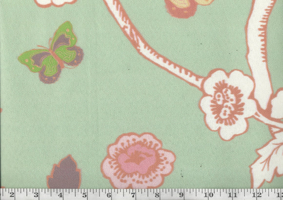 Turks Row CL Cucumber Drapery Upholstery Fabric by Madcap Cottage