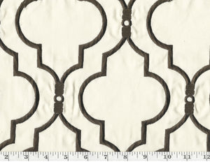 Upscale CL Fudge Embroidered Drapery Upholstery Fabric by P Kaufmann Fabrics