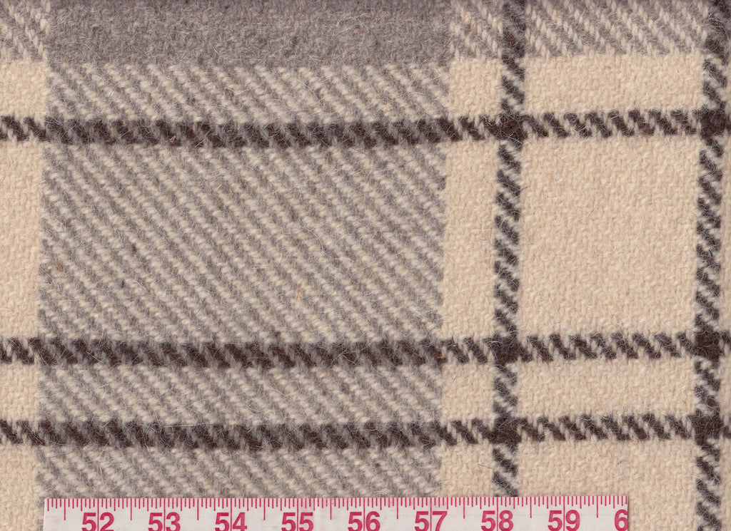 Verbier Plaid CL Caribou Wool Upholstery Fabric by Ralph Lauren