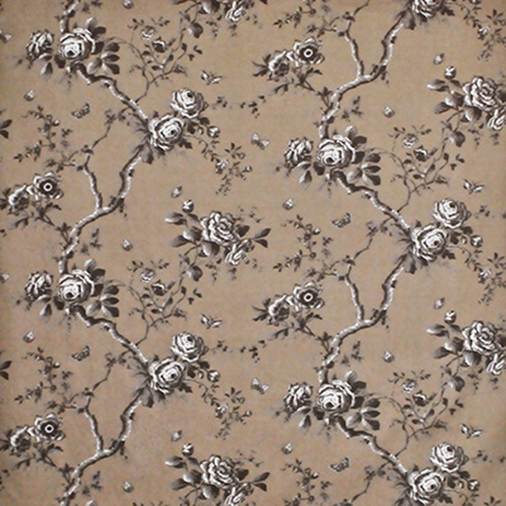 Vintage Ashfield Floral CL Mocha Drapery Upholstery Fabric by Ralph Lauren