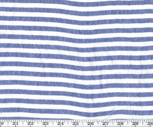 "Water Mill Stripe Sheer CL Lapis 118"" Width  Drapery Fabric by Ralph Lauren Fabrics"