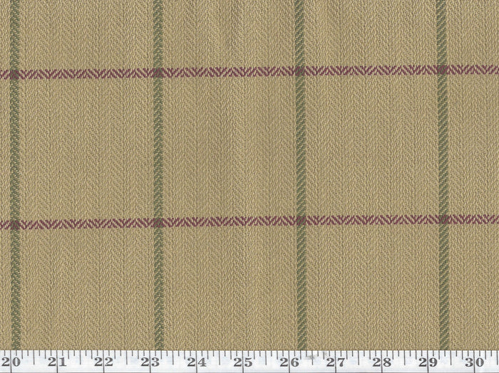 Westerly Tattersal CL Currant Drapery Upholstery Fabric by Ralph Lauren