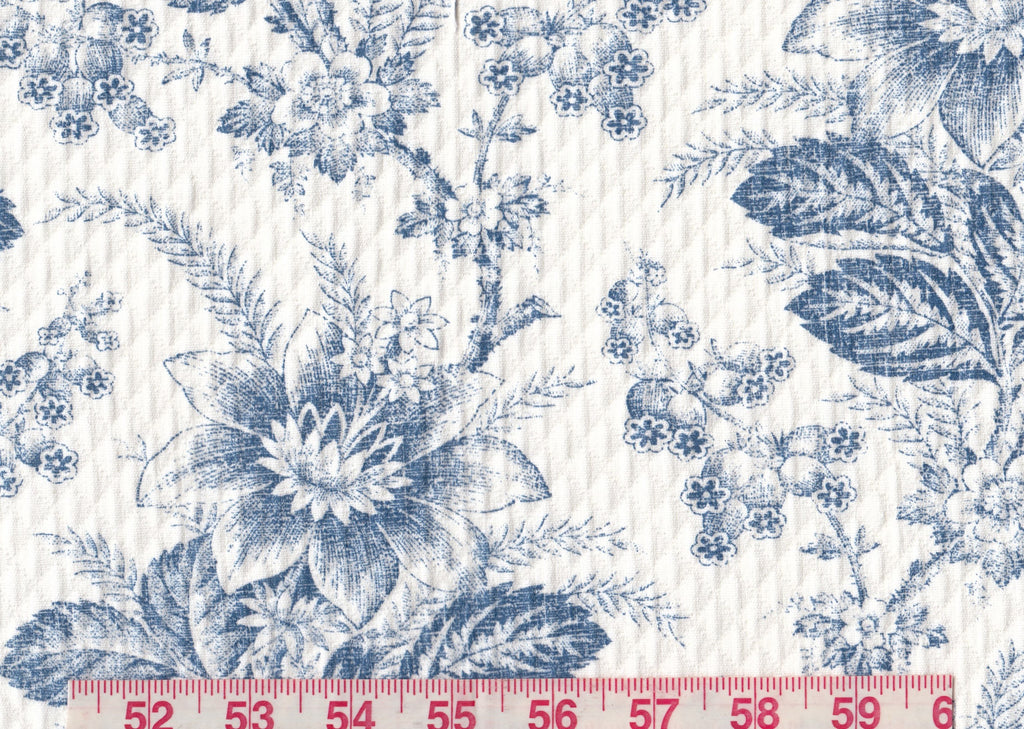 Westwick Toile CL Denim Matelasse Upholstery Fabric by Ralph Lauren