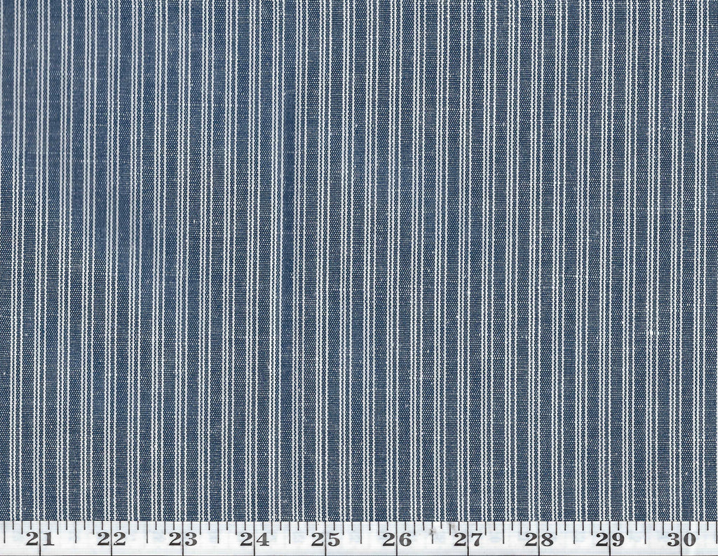 Wharf Road Ticking CL Denim Drapery Upholstery Fabric by Ralph Lauren