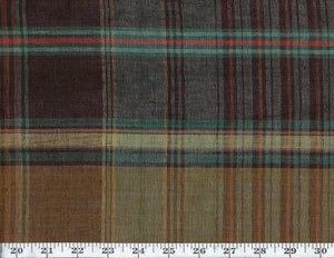 Wilhelm Linen Plaid CL Savanna Drapery Upholstery Fabric by Ralph Lauren