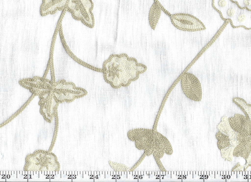 Willow CL Tumbleweed Embroidered Sheer Drapery Fabric by P Kaufmann