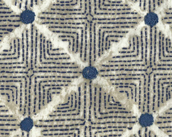 Wilshire CL Navy Embroidered Drapery Upholstery Fabric by Ellen DeGeneres and PK Lifestyles