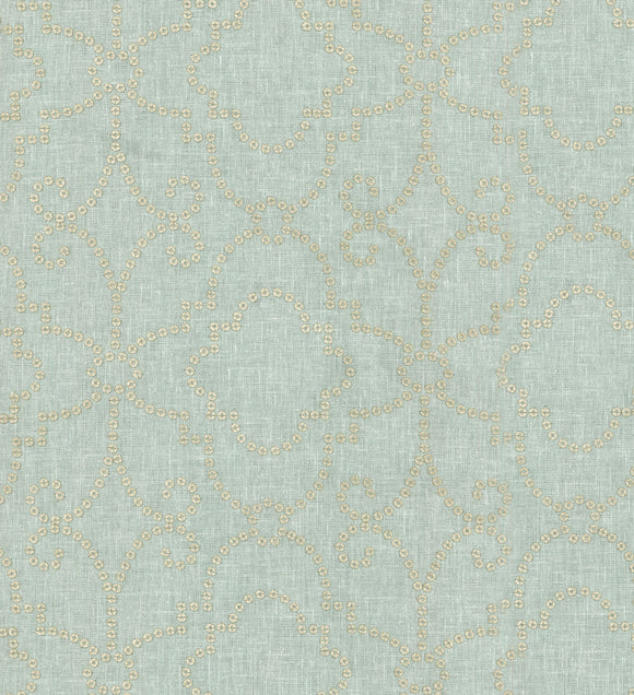 Wow Factor Embroidery CL Moonstone Beaded Drapery Upholstery Fabric by PK Lifestyles