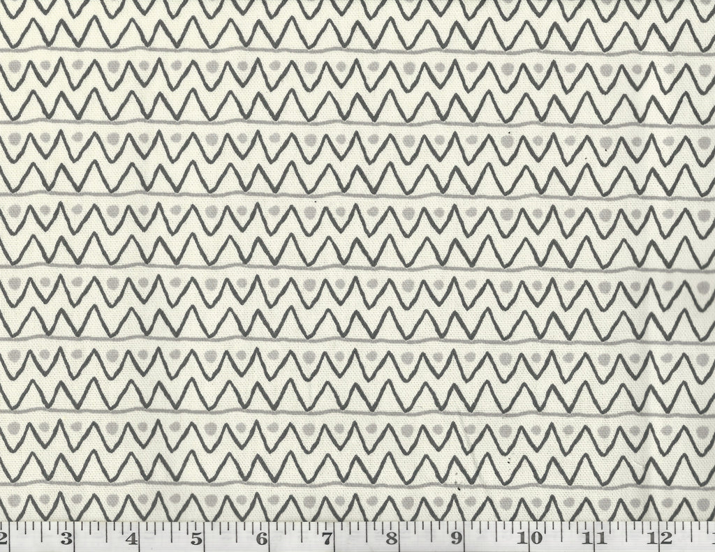 Zipper Zag CL Graphite Drapery Upholstery Fabric by PK Lifestyles (Waverly)