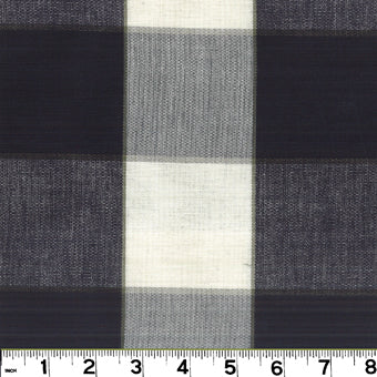 Monroe CL Black Drapery Upholstery Fabric by Roth & Tompkins