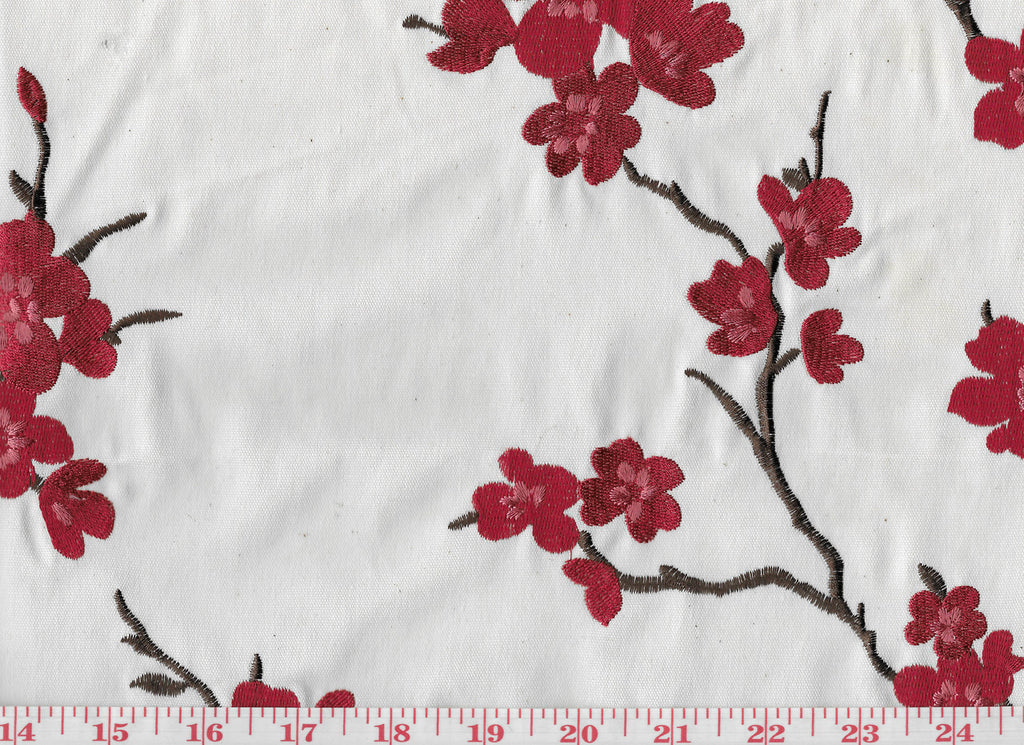Hangzou CL Scarlet Drapery Upholstery Fabric by Braemore Textiles