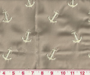 Upper Deck Embroidery CL Sand Outdoor Upholstery Fabric by Ralph Lauren