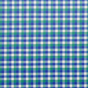 Annis Check CL Sapphire Silk Drapery Upholstery Fabric by Hill Brown