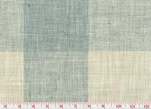 Check Please CL Lagoon Drapery Upholstery Fabric by P Kaufmann