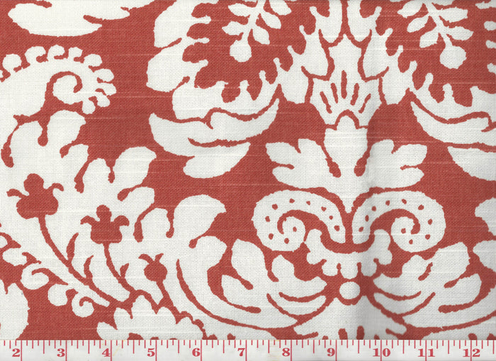 Julian Oxford CL Tangerine Drapery Upholstery Fabric by Braemore Textiles