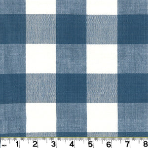 Lyme CL French Blue  Upholstery Fabric by Roth & Tompkins