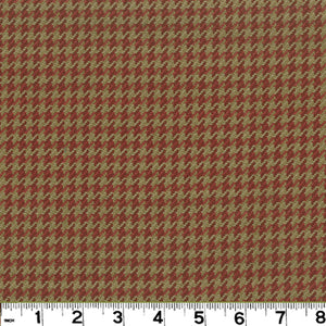 Houndstooth CL Brick Upholstery Fabric by Roth & Tompkins