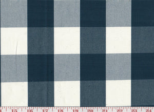 Squared CL Navy Drapery Upholstery Fabric by Sheldon and Barnett