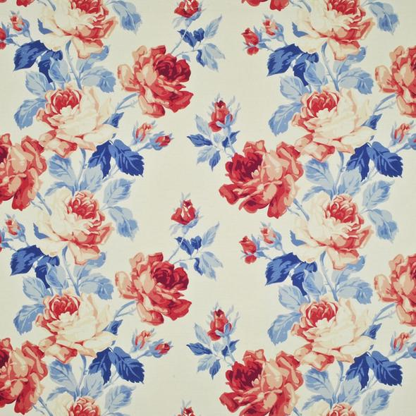 American Beauty Floral CL Bunting Drapery Upholstery Fabric by Ralph Lauren