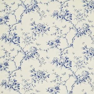 Ashfield Twill Floral CL Delft Blue Drapery Upholstery Fabric by Ralph Lauren
