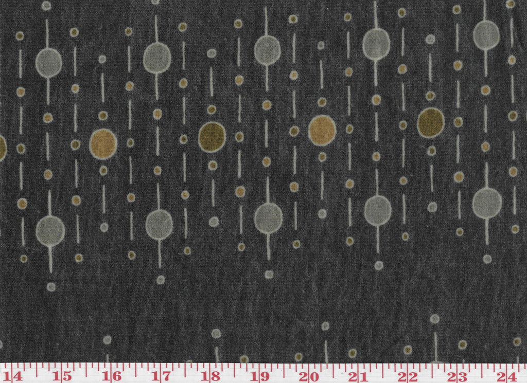 Dotted Lines CL Charcoal Printed Velvet Upholstery Fabric by Diversitex