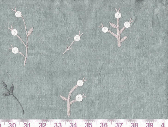 Wild Flowers CL Blueberry Drapery Fabric by Clarence House
