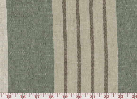 Round Swamp Stripe CL Celadon Upholstery Fabric by Ralph Lauren