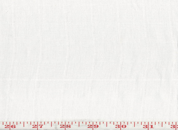 Quilon Check CL White Sheer Drapery Fabric by Roth & Tompkins