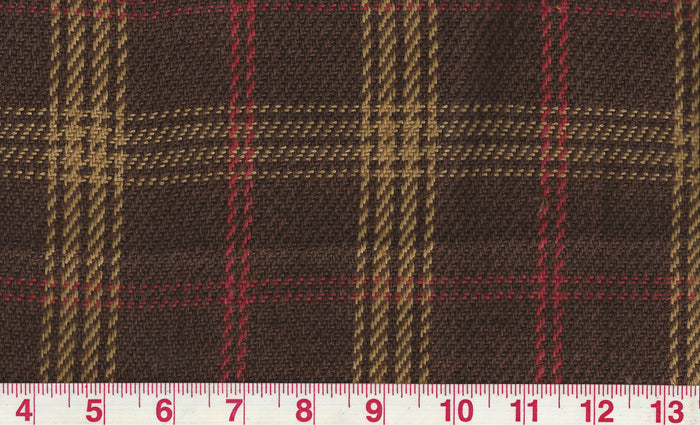 Judd Check CL Brown Upholstery Fabric by Clarence House